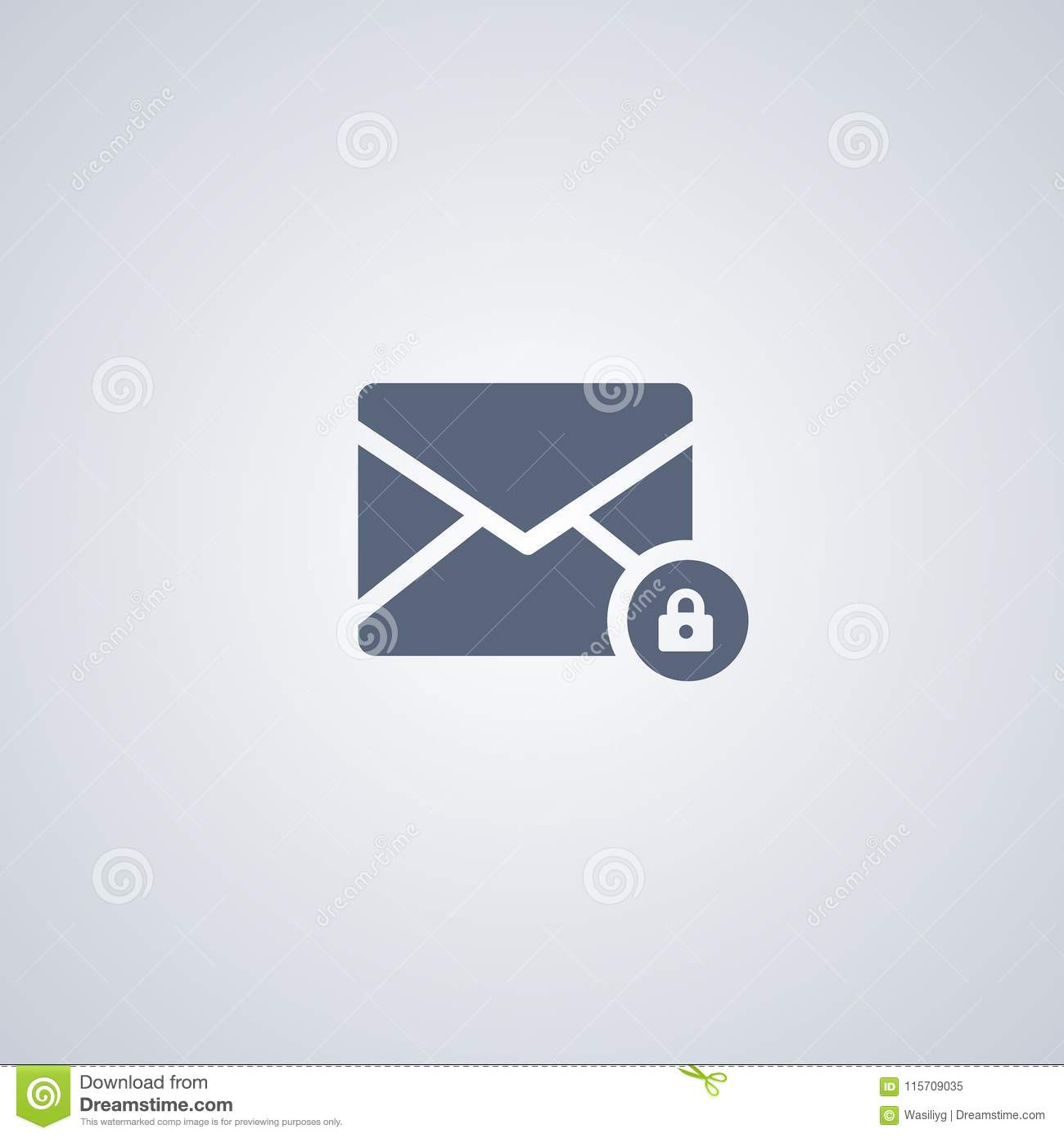 Secret Mail, Safe Mail, Vector Best Flat Icon Stock Vector