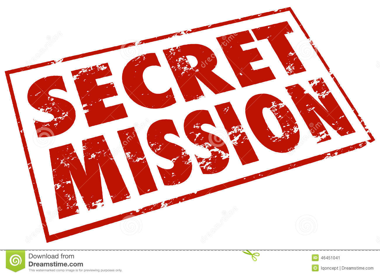 Secret Mission Red Stamp Words Assignment Job Task Stock Illustration ...