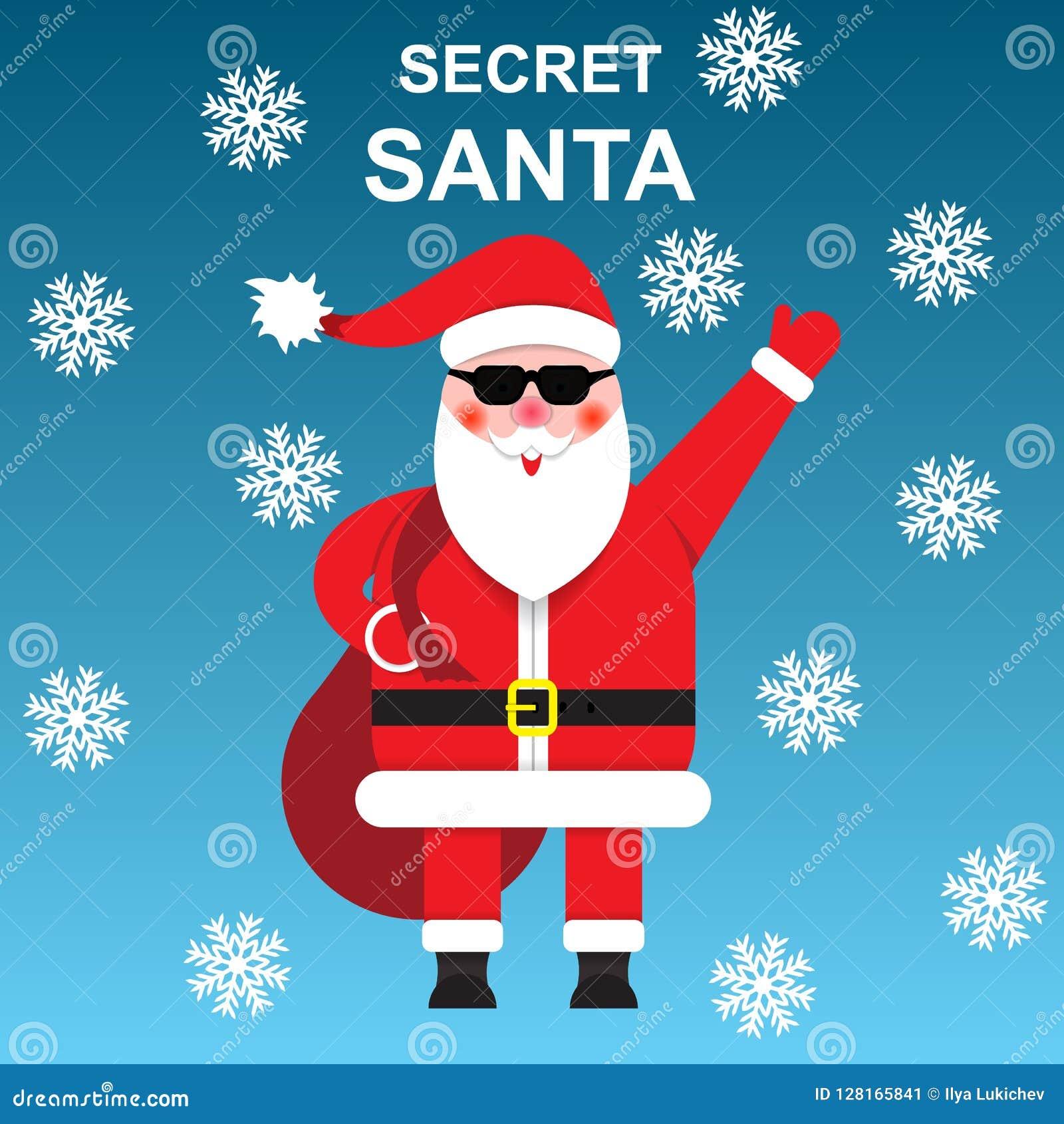Secret Santa Claus.Secret Gifts. Stock Vector - Illustration of ...