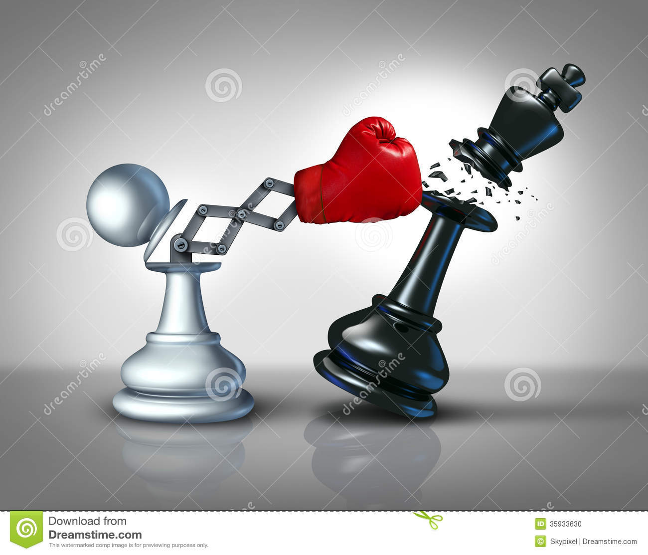 ... boxing glove as a metaphor for innovative corporate strategy and