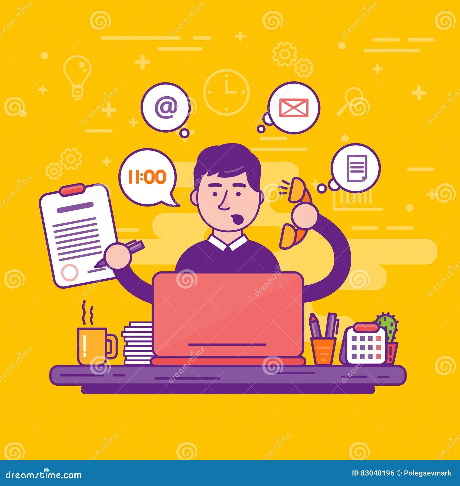 Secretaria de la mujer o ejemplo femenino del vector del ayudante personal