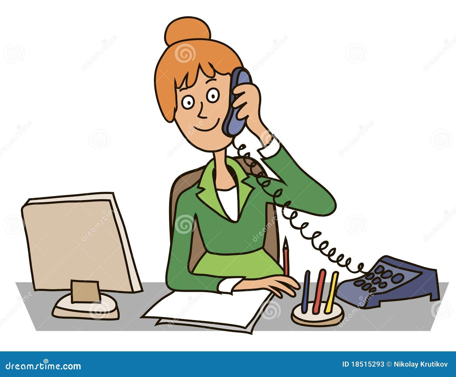Secretaria en la oficina ilustraci n del vector for Oficina en ingles