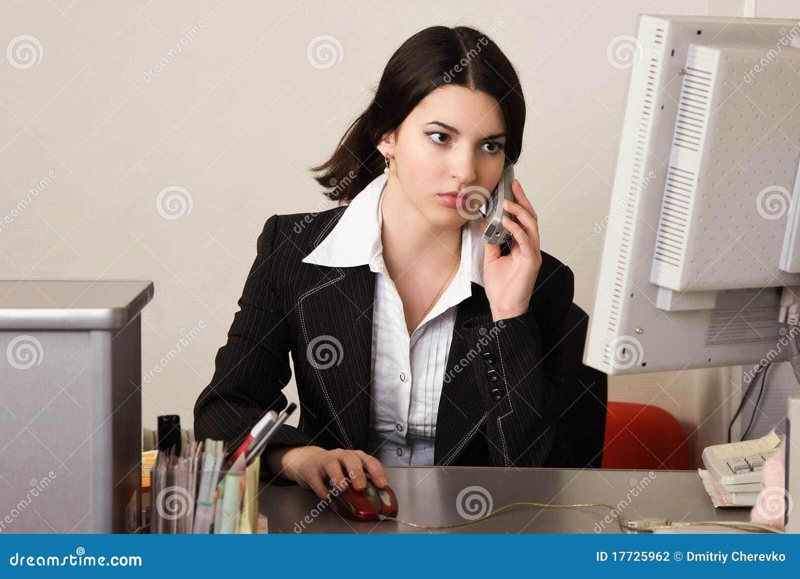 Secretaria en una oficina fotograf a de archivo imagen for Xxx porno en la oficina