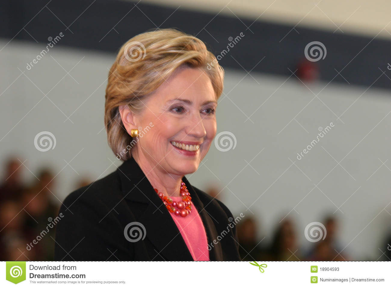 Secretary of State Hillary Clinton Smiling