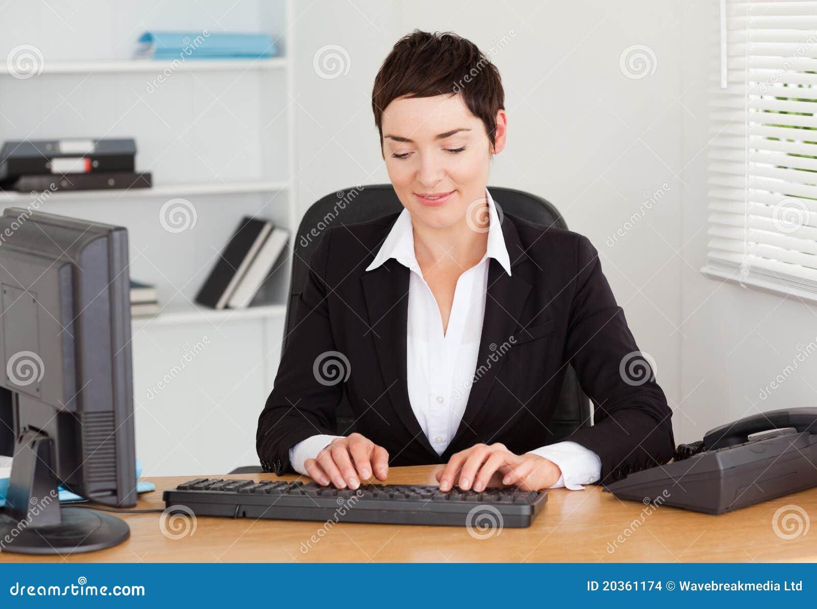 secretary typing on her keybord stock images image 20361174
