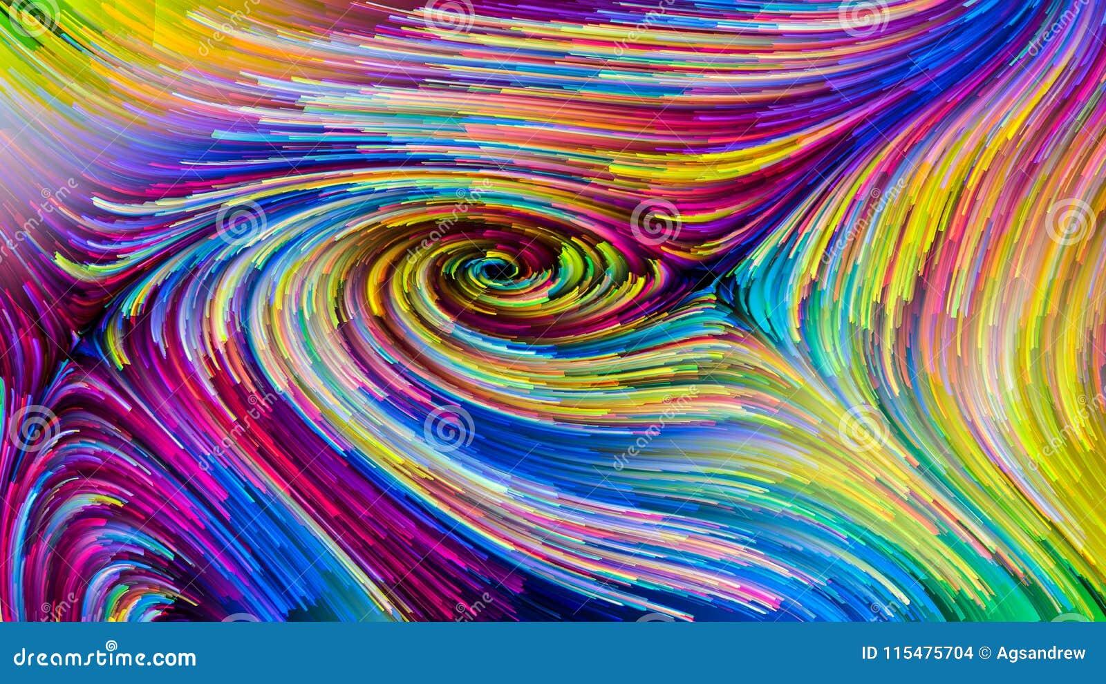 Papier Gaufré À Peindre secrets colorés de peinture illustration stock