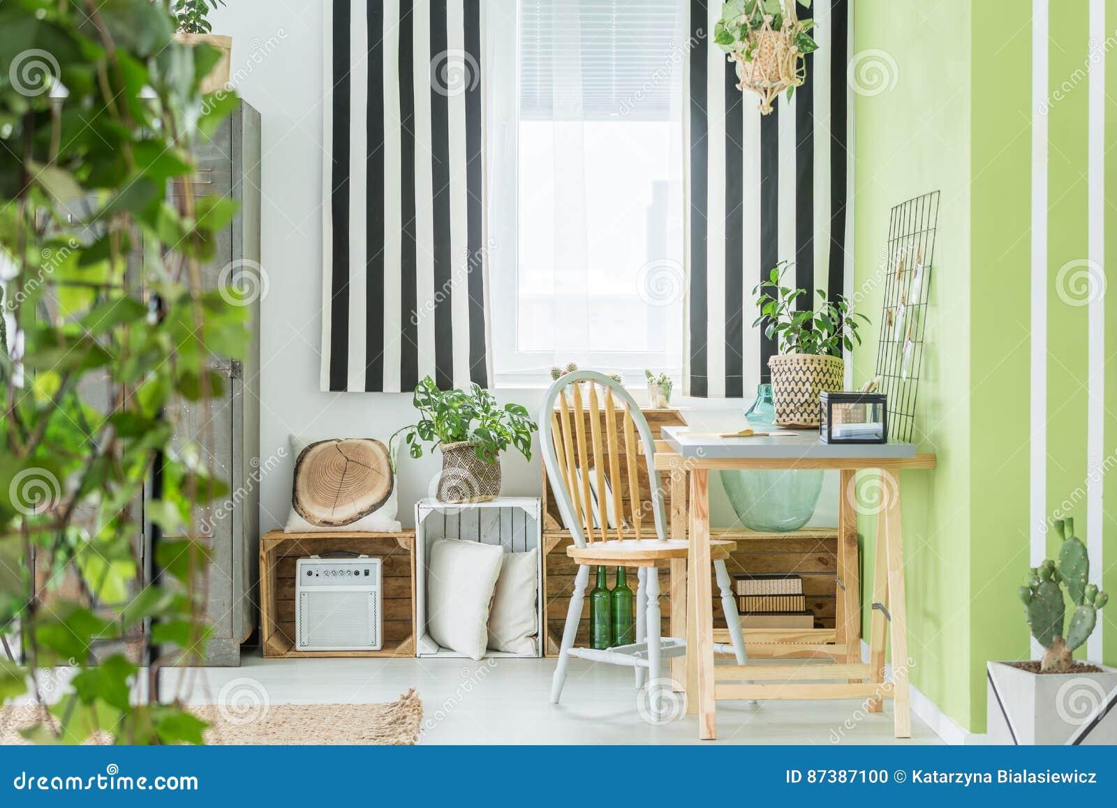 Secteur d étude vert avec la fenêtre
