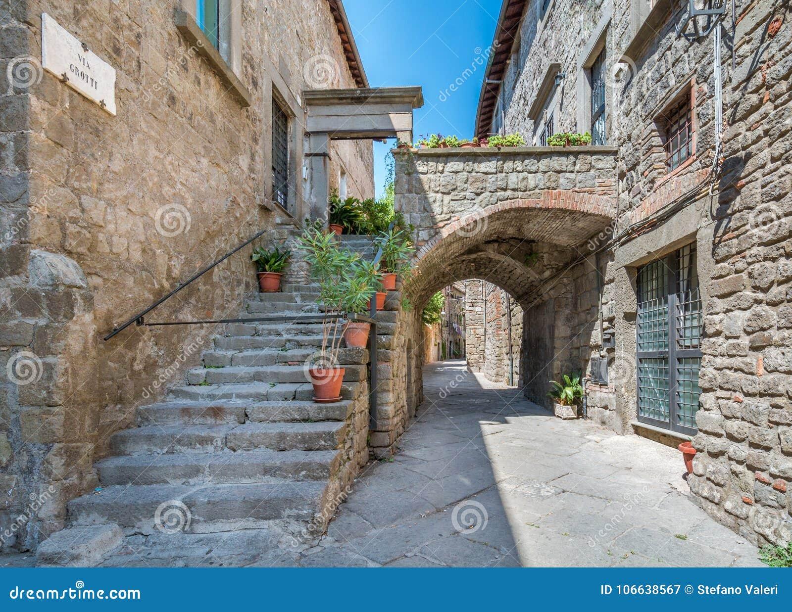 Secteur de Pellegrino de saint à Viterbe, Latium Italie