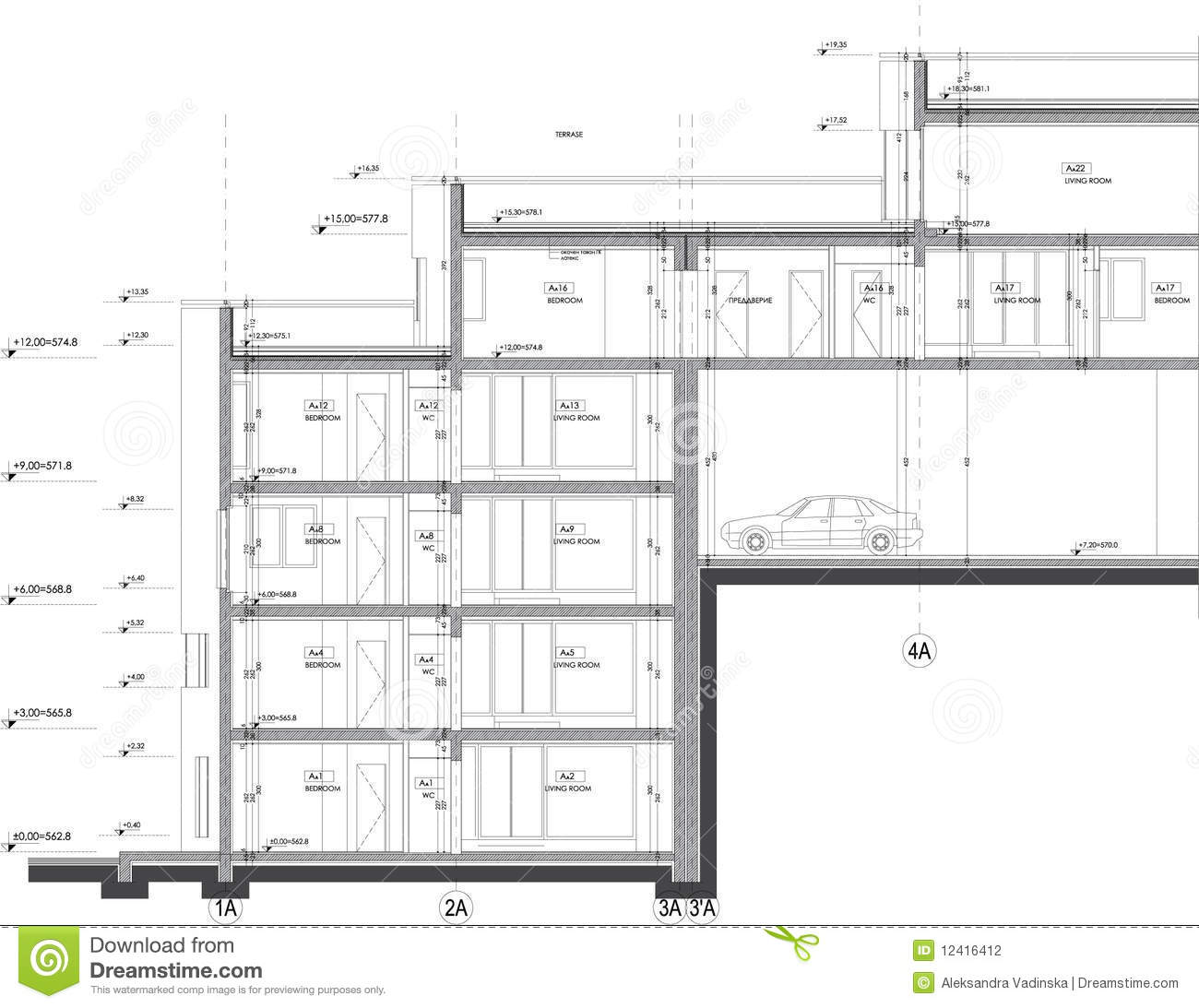 Section Building Drawing Stock Photography Image 12416412