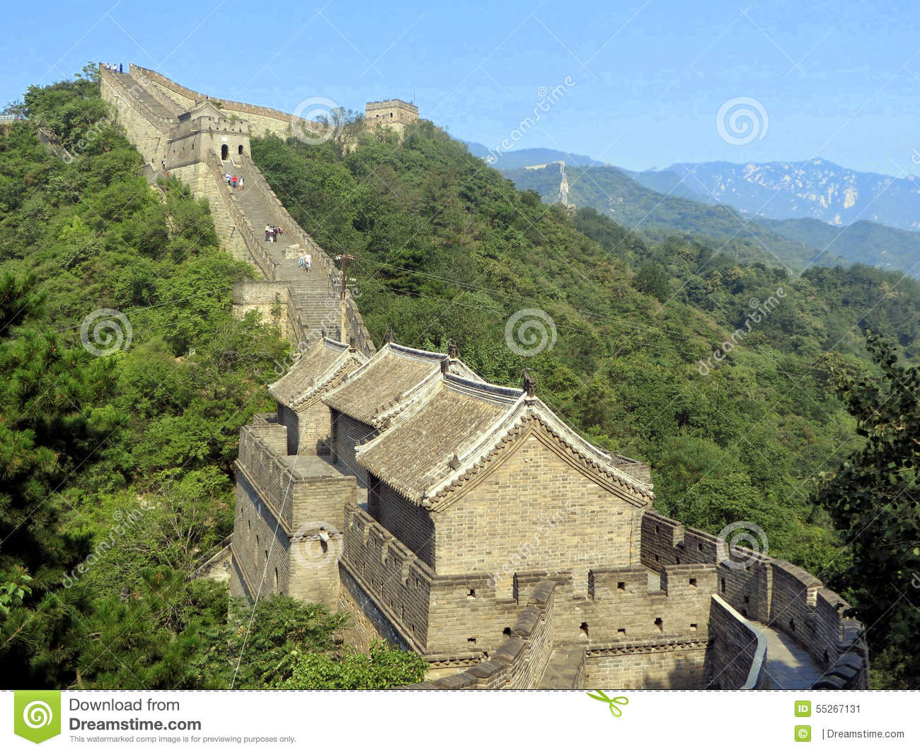 A section of the Great Wall of China one of the seven wonders of the modern world
