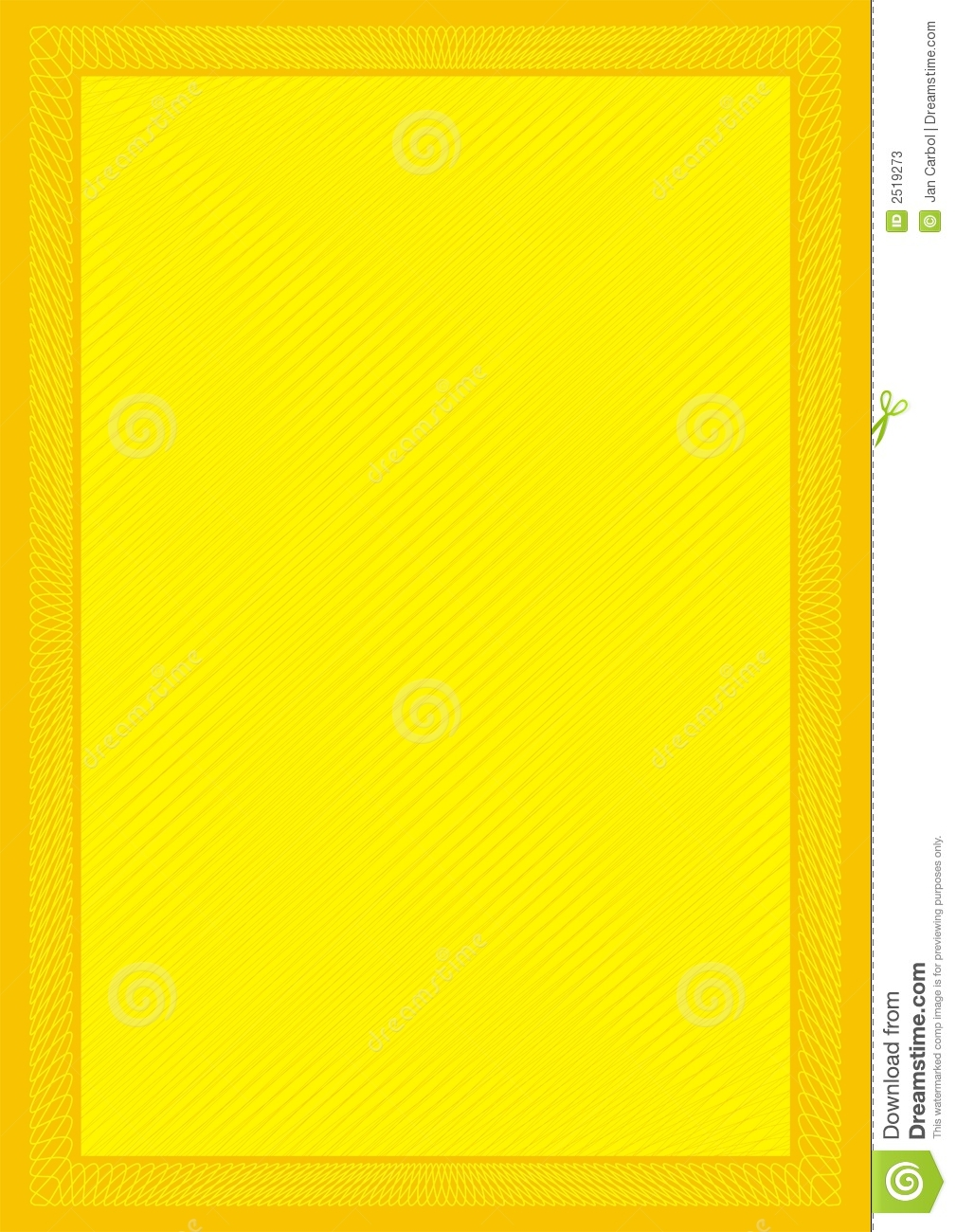 secure frame yellow background