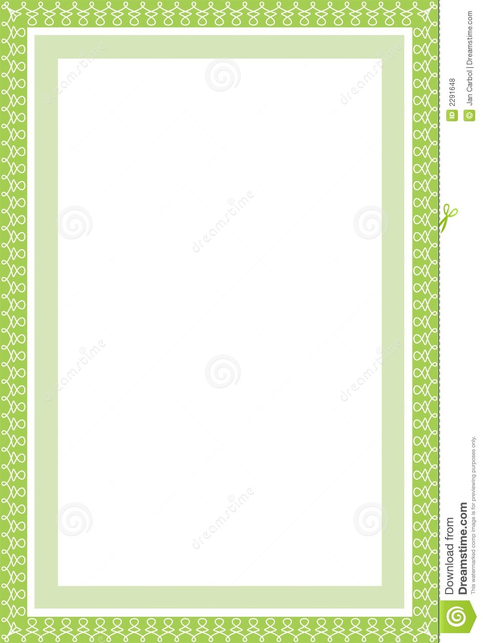 Secure green border in A4 stock vector. Illustration of ...