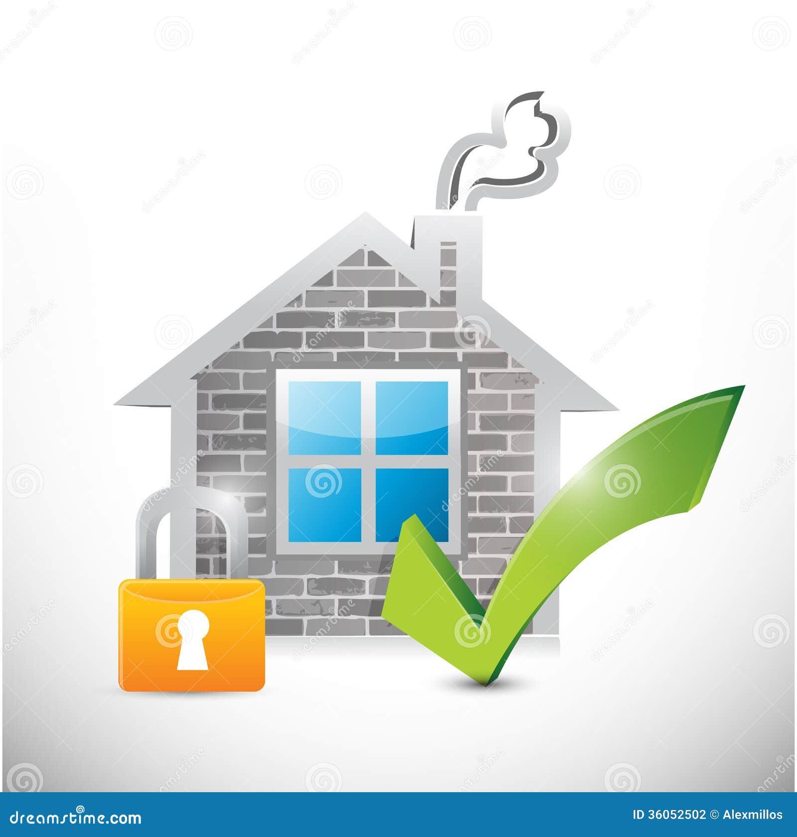 Secure Home Illustration Design Stock Illustration - Illustration of on software architecture, new england architecture, portfolio design architecture,