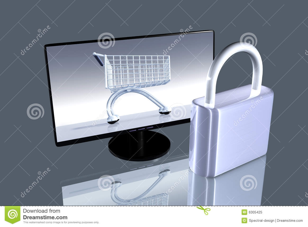 Secure Online Shopping Royalty Free Stock Photo - Image: 6305425
