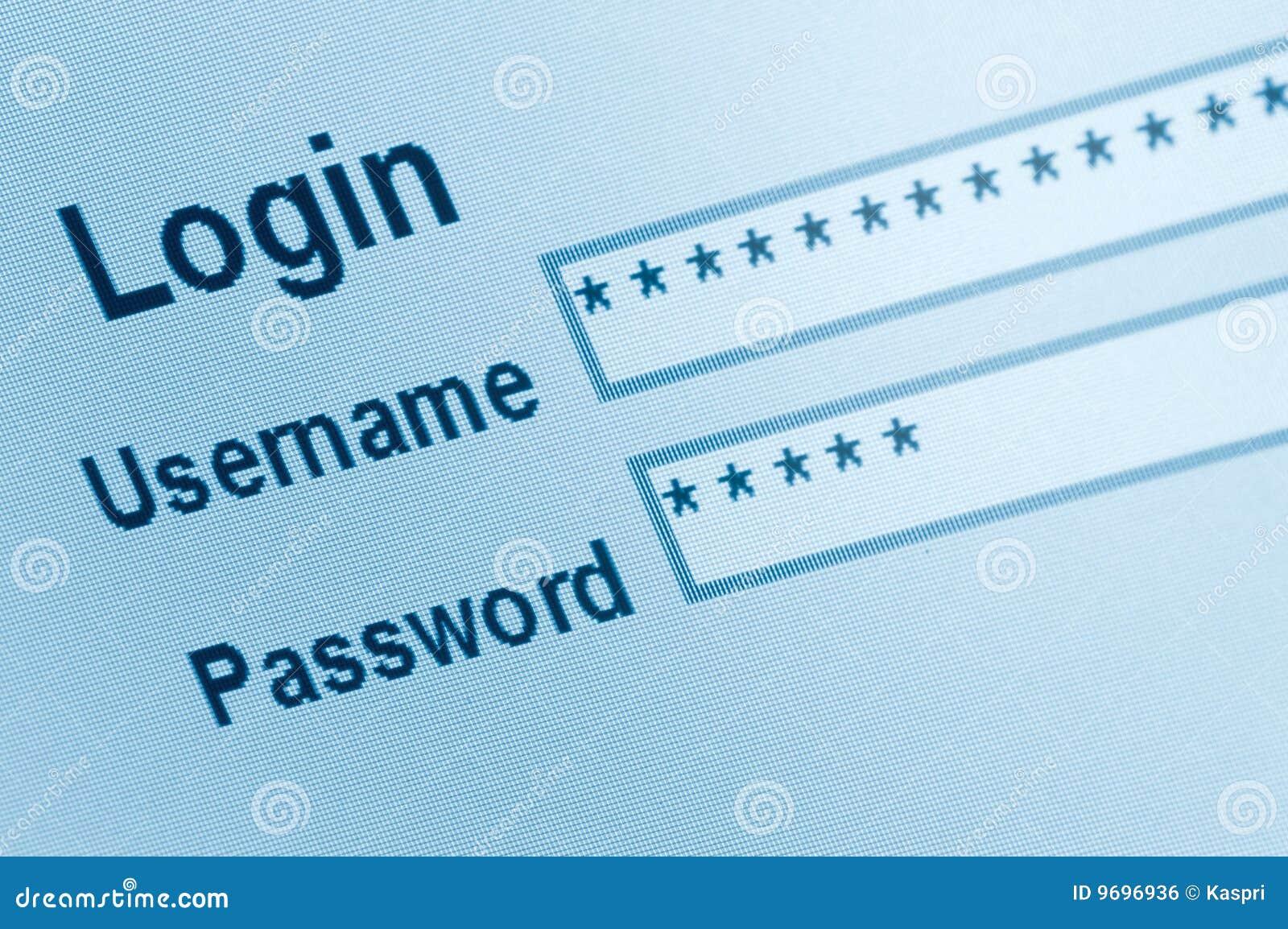 Login website screen stock images image 27209274 -  Screen Stock Secure Website Login Interface
