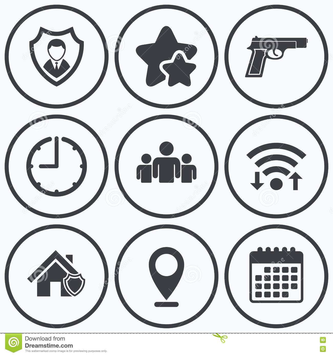 Security agency icons home shield protection stock vector security agency icons home shield protection biocorpaavc Images