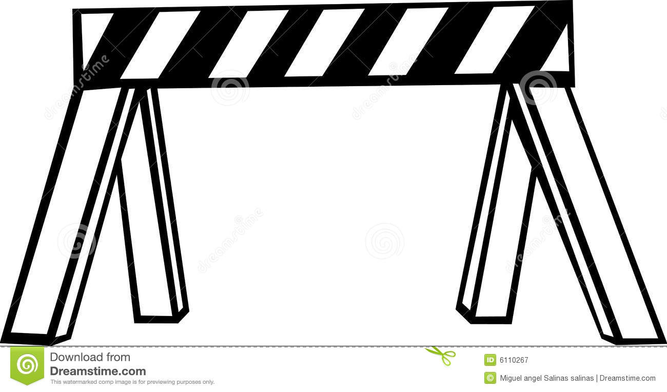 Security barricade vector illustration stock