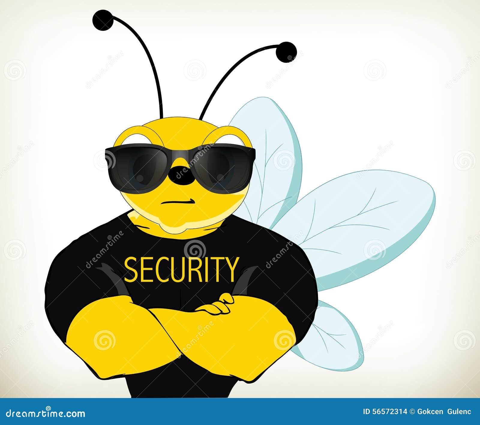 Security bee stock vector image