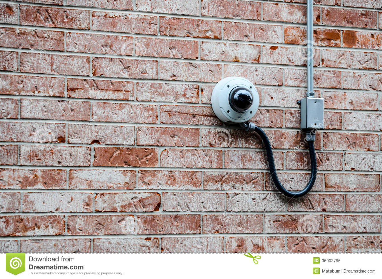 Security Camera On The Brick Wall Royalty Free Stock Image ...