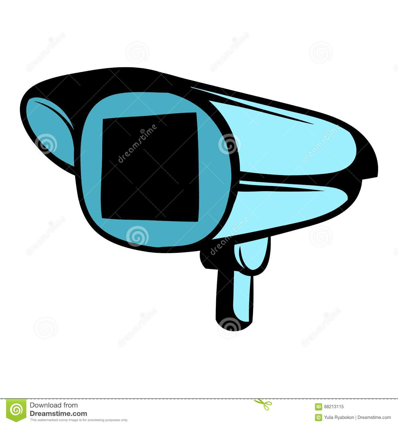 Security Camera Icon Cartoon Stock Vector Illustration Of Home