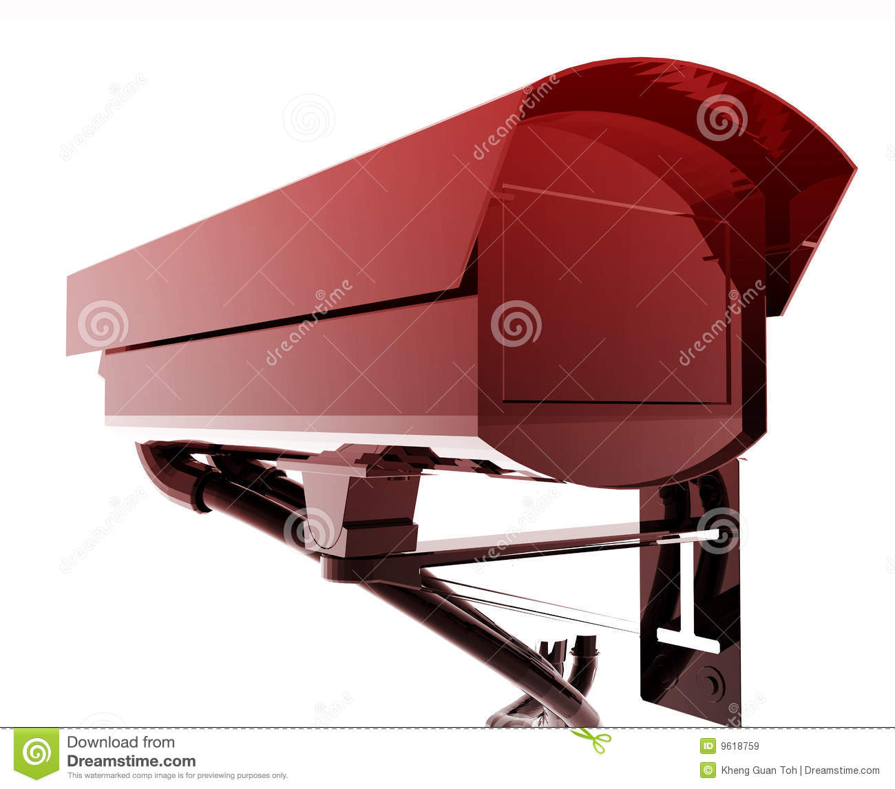 Security Camera Illustration Royalty Free Stock Images