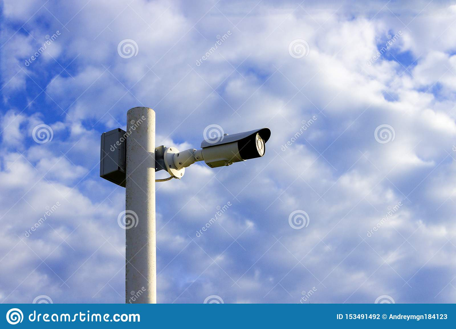 Security camera on the pole
