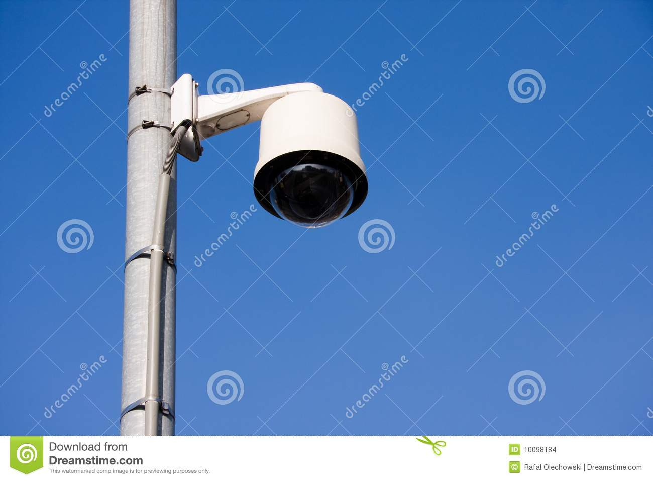 Security Camera On Post Stock Images Image 10098184