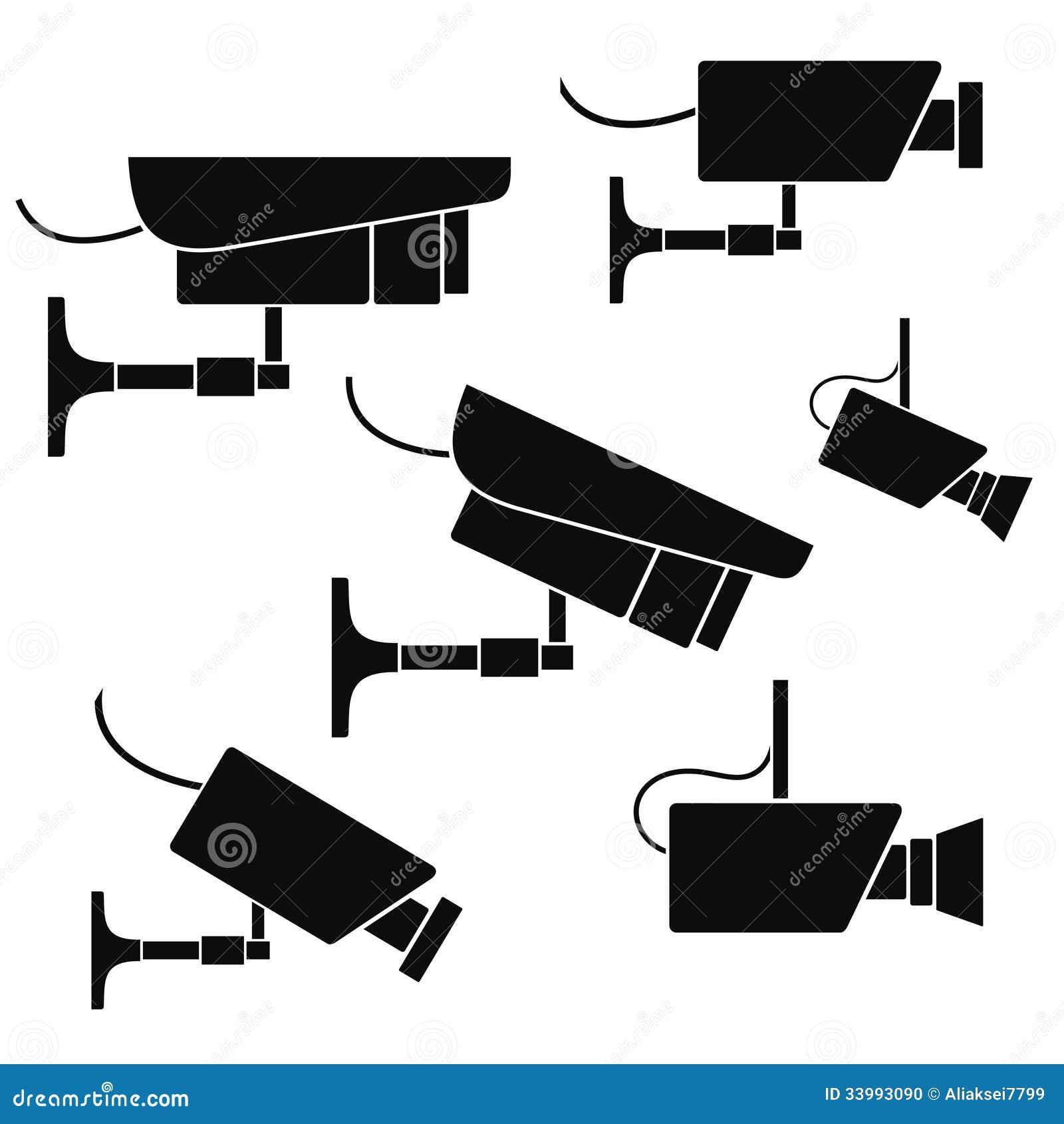 Security Camera Stock Photo - Image: 33993090