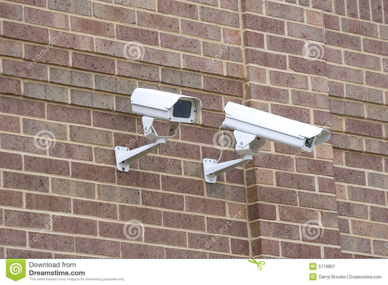 how to mount security camera to brick