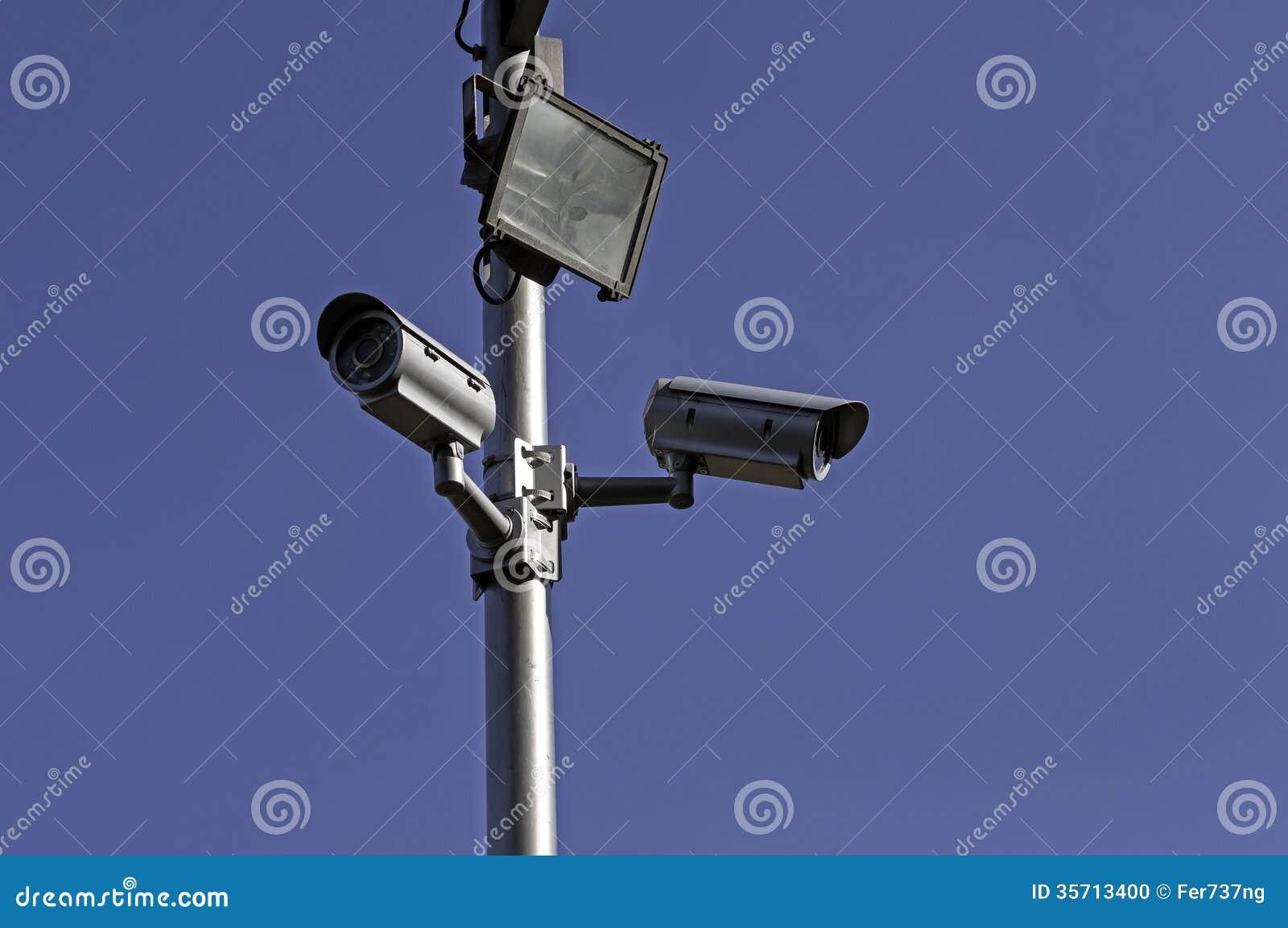 Security Cameras. Stock Photo