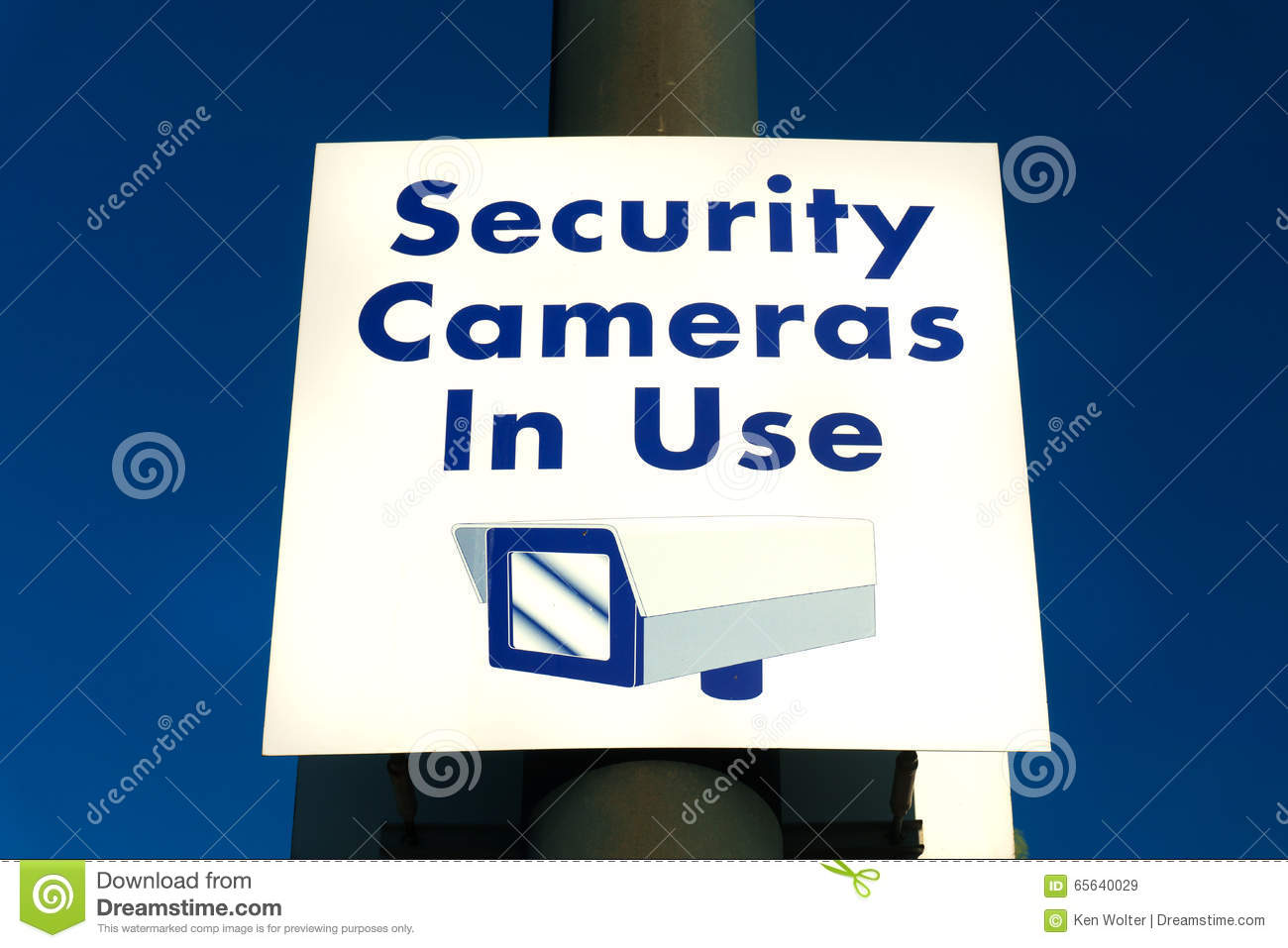 security cameras in use sign stock photo image 65640029