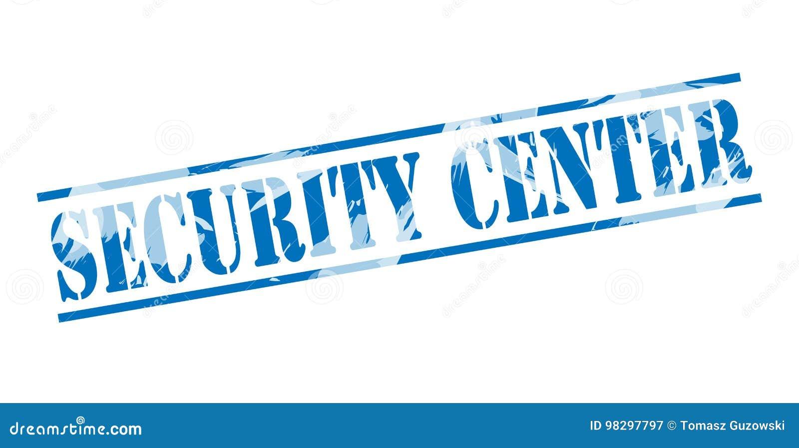 Security center blue stamp stock illustration  Illustration