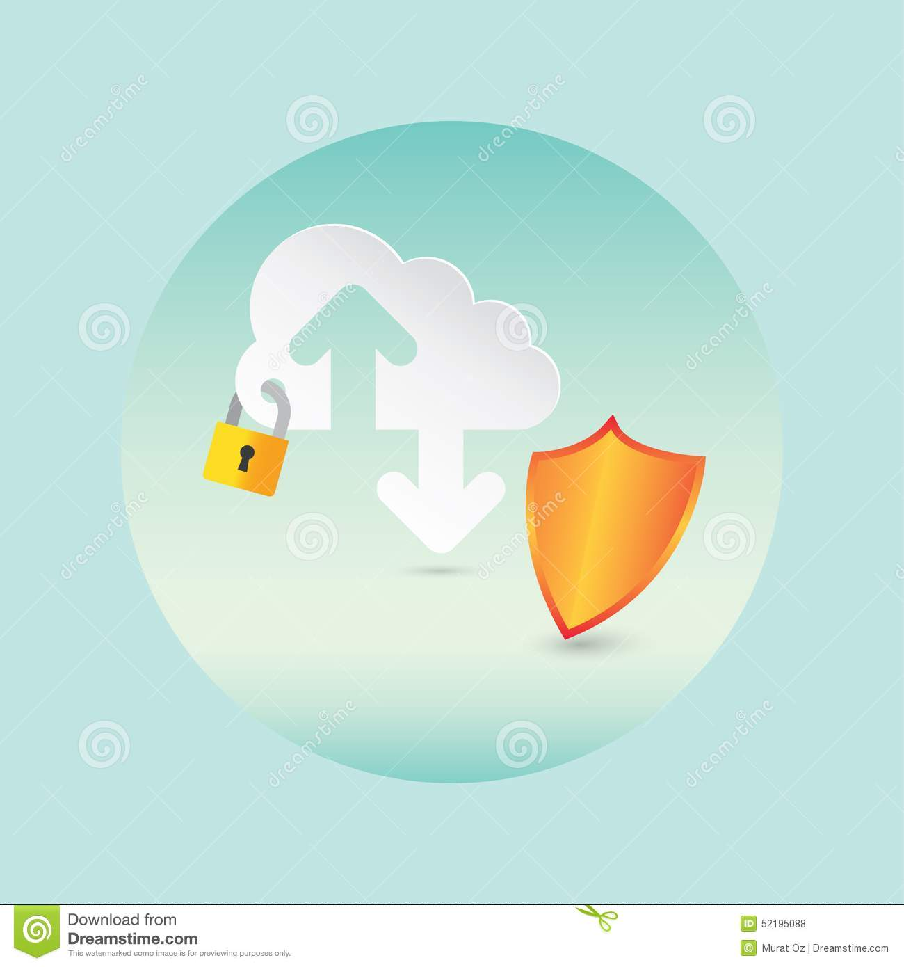 security and cloud technology stock vector
