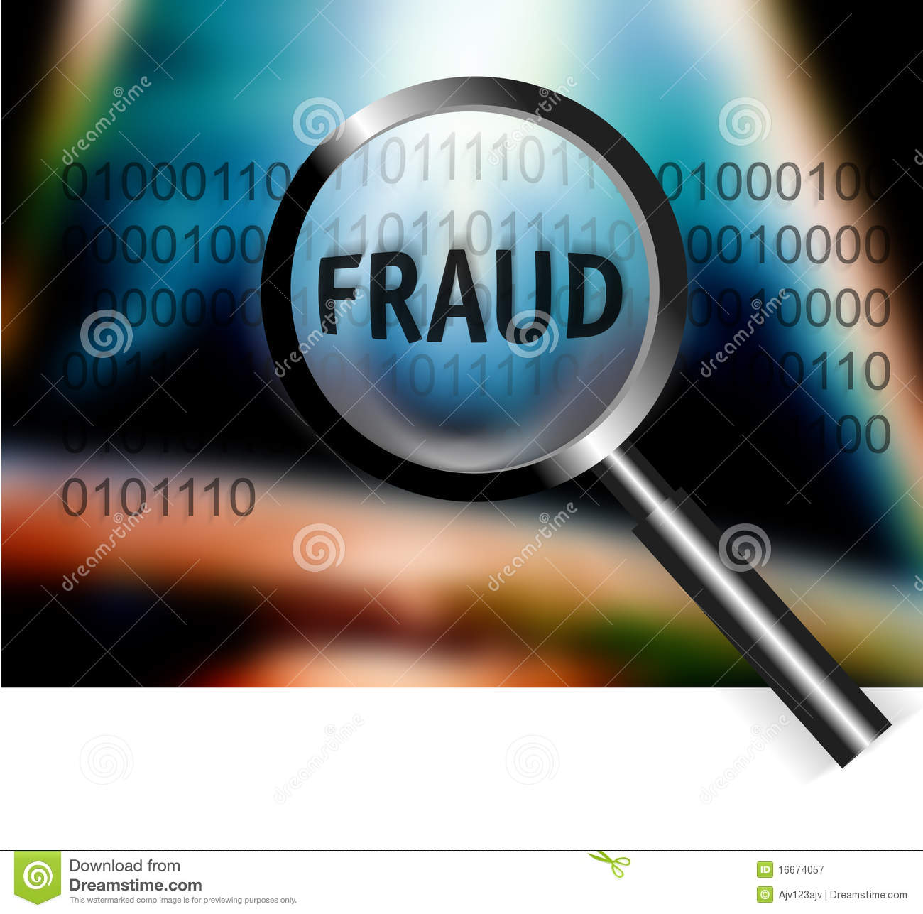 Security Concept Focus Fraud Investigation