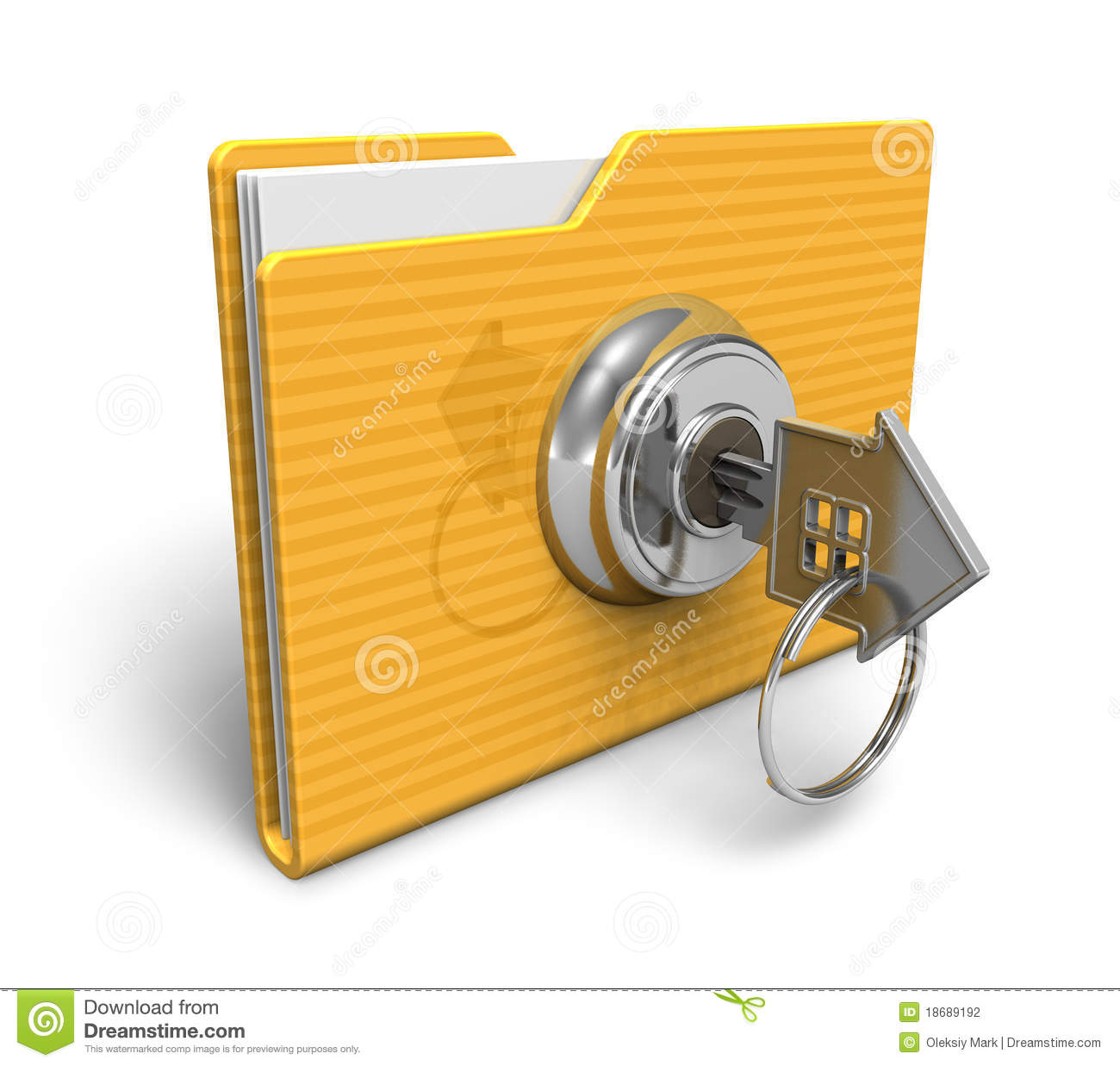 Security Concept: Locked Folder Stock Illustration - Image ...