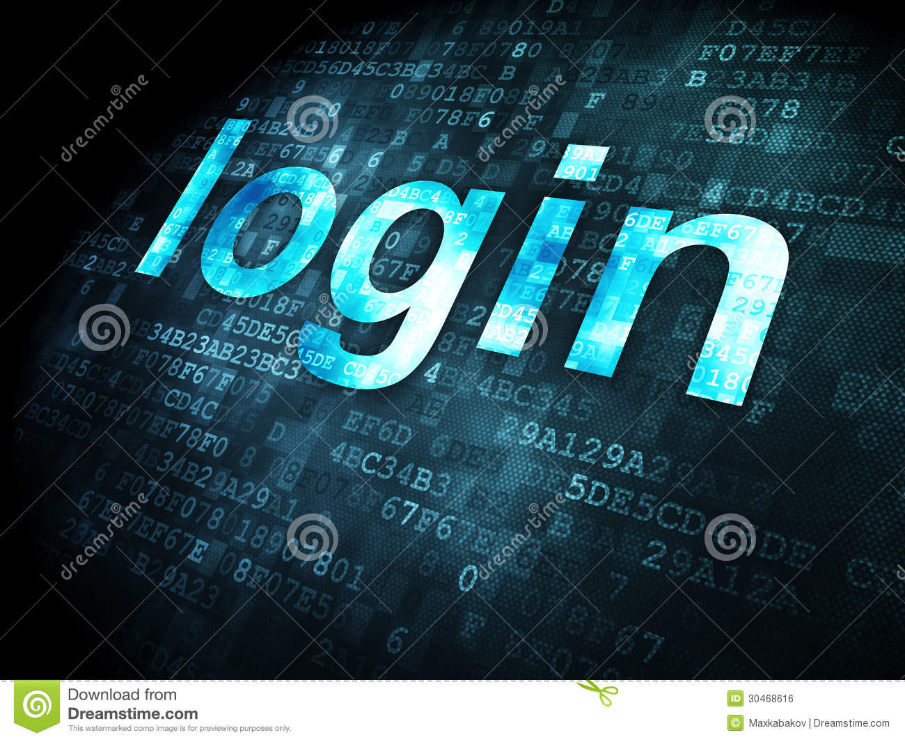 Security Concept Login On Digital Background Royalty Free