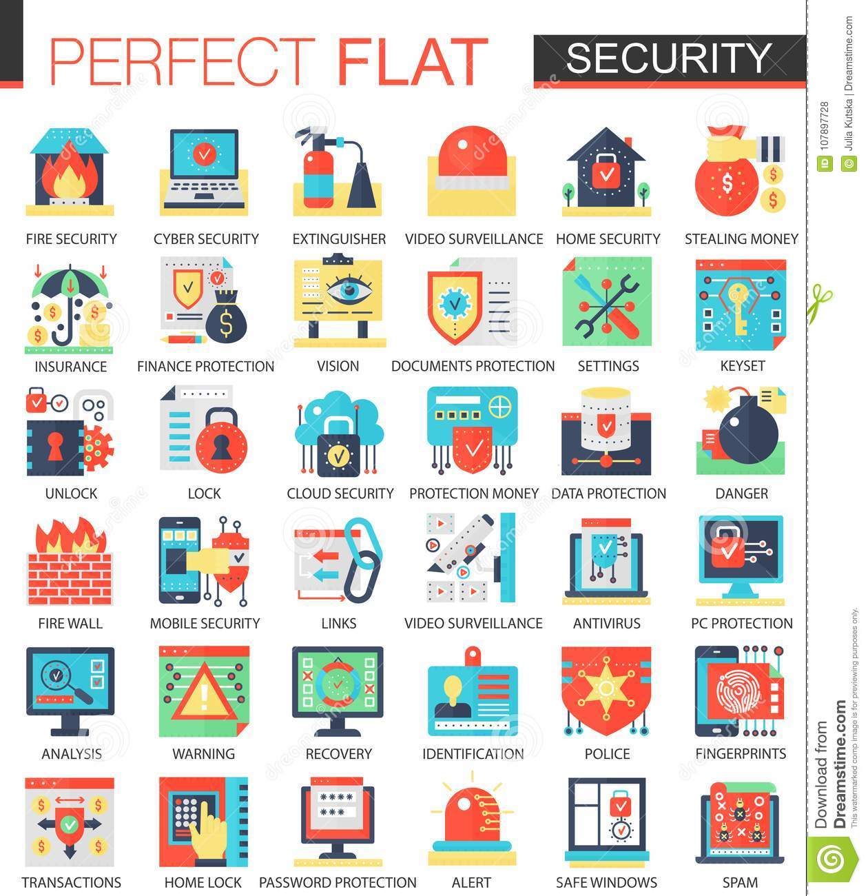 Security and cyber safety technology vector complex flat icon security and cyber safety technology vector complex flat icon concept symbols for web infographic design biocorpaavc Images
