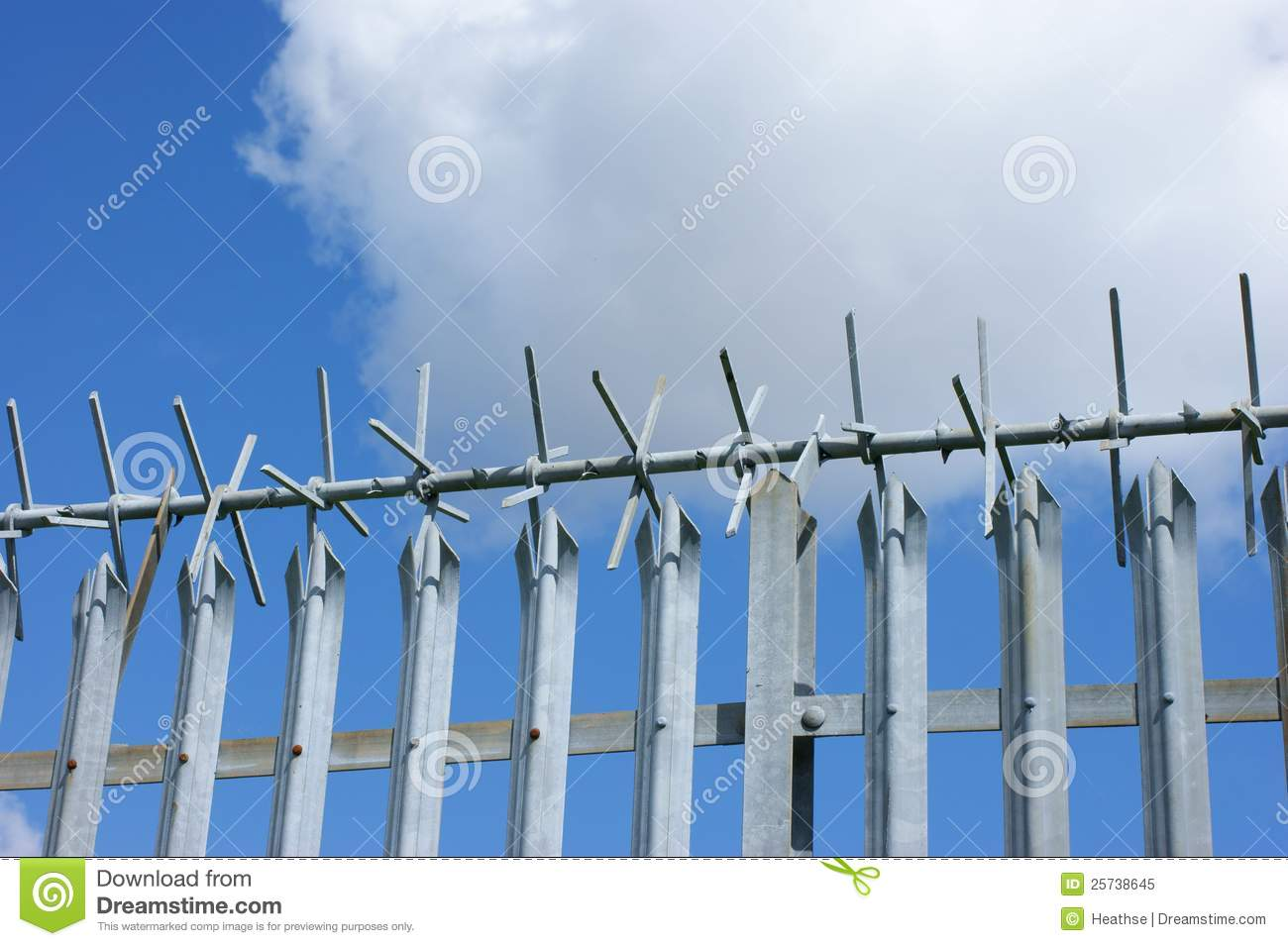 security fence royalty free stock photo