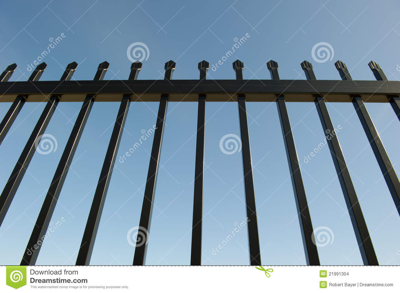 Security Fence around Industrial Property