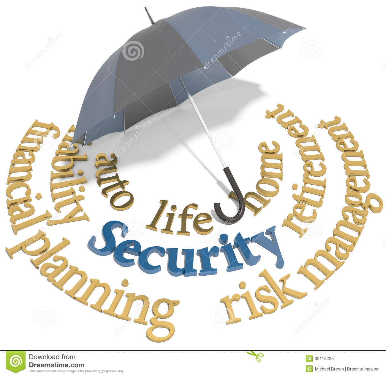 Security financial planning umbrella words stock illustration security financial planning umbrella words buycottarizona Images