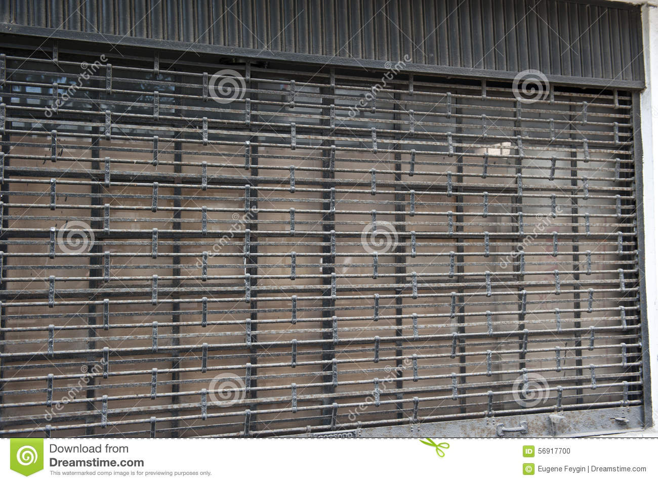 Security Garage Door Stock Photo Image Of Door Peruvian 56917700