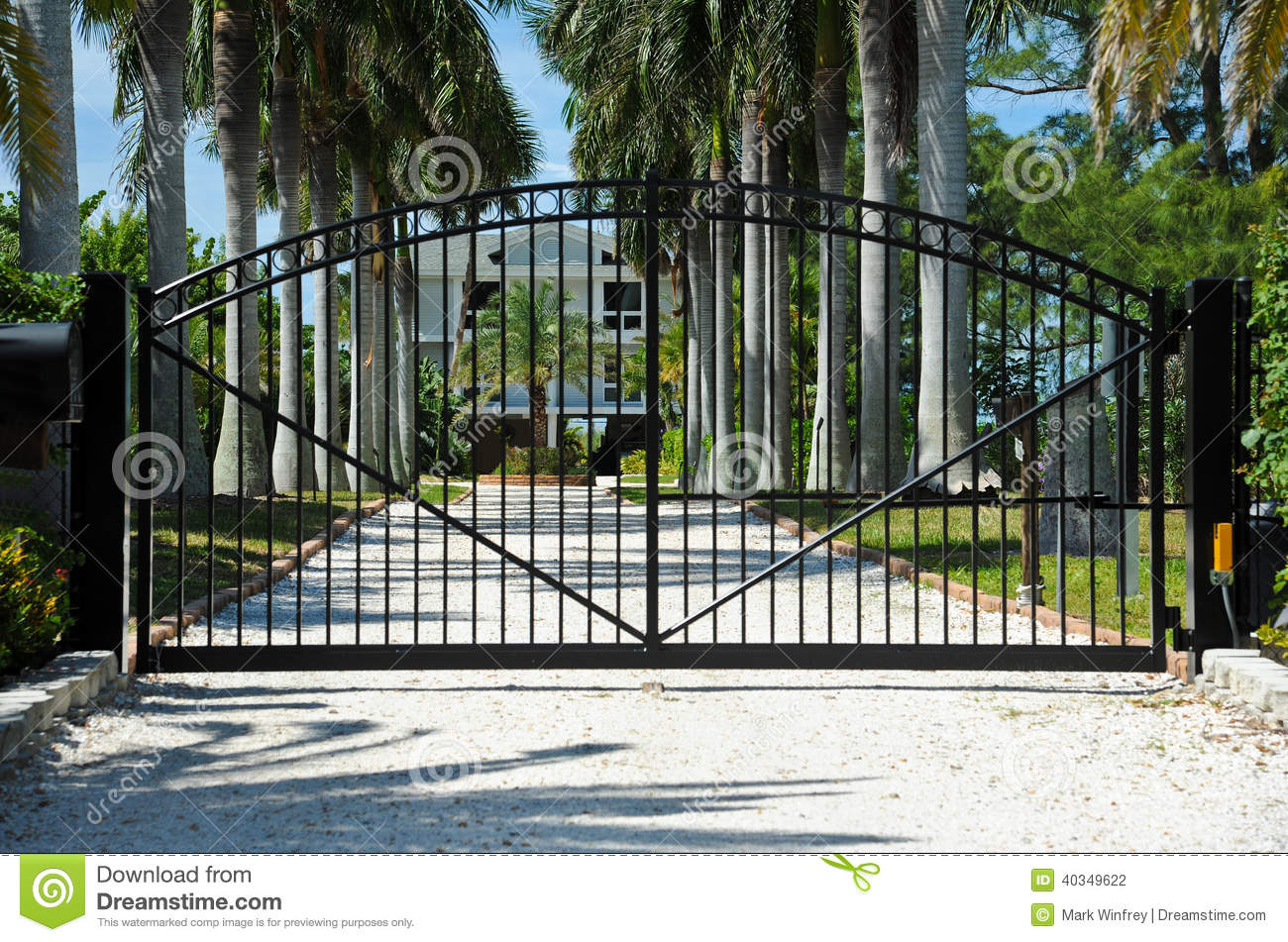 Security gate stock photo image