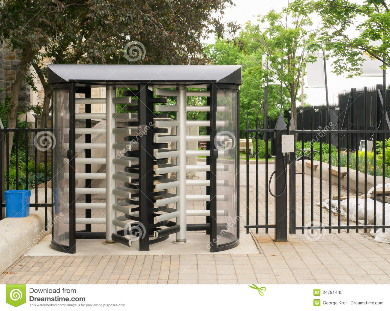 Security gate royalty free stock photo image