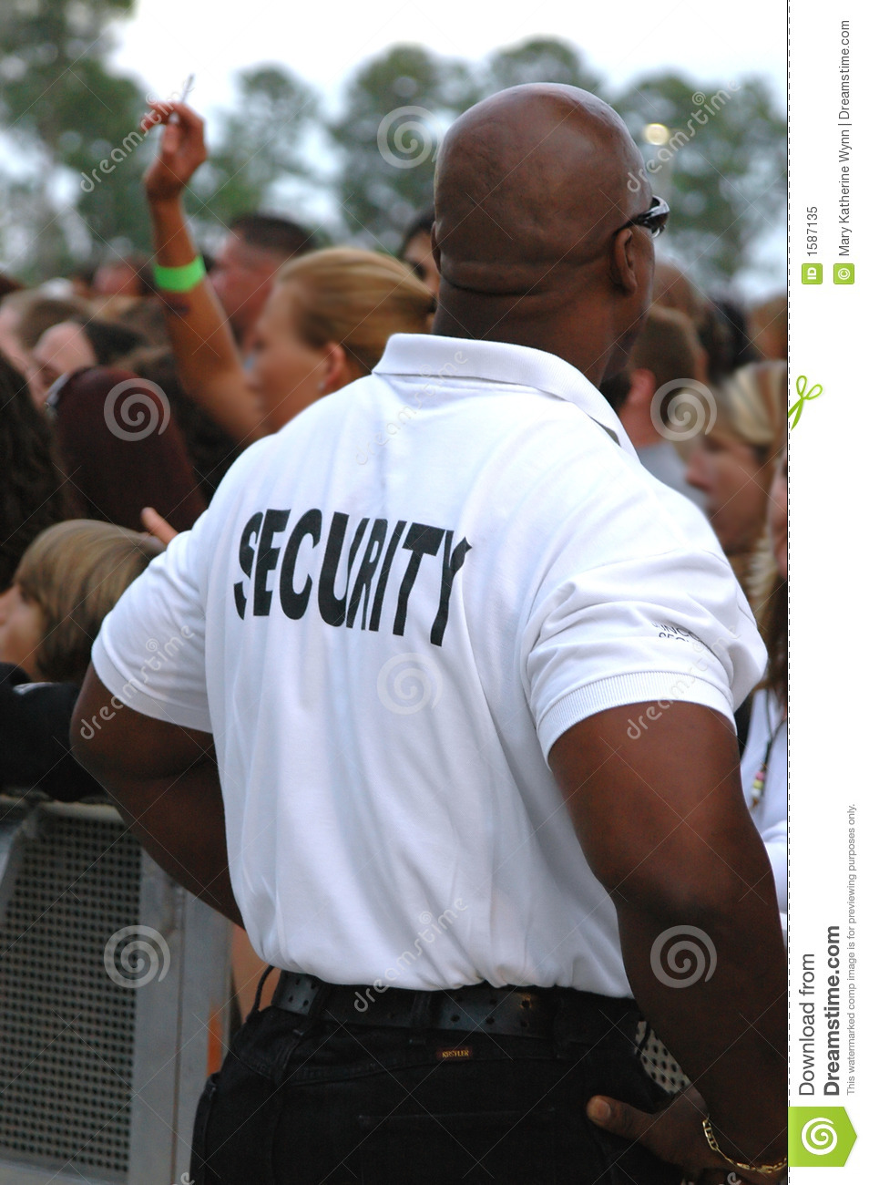 Security Guard Editorial Image Image 1587135