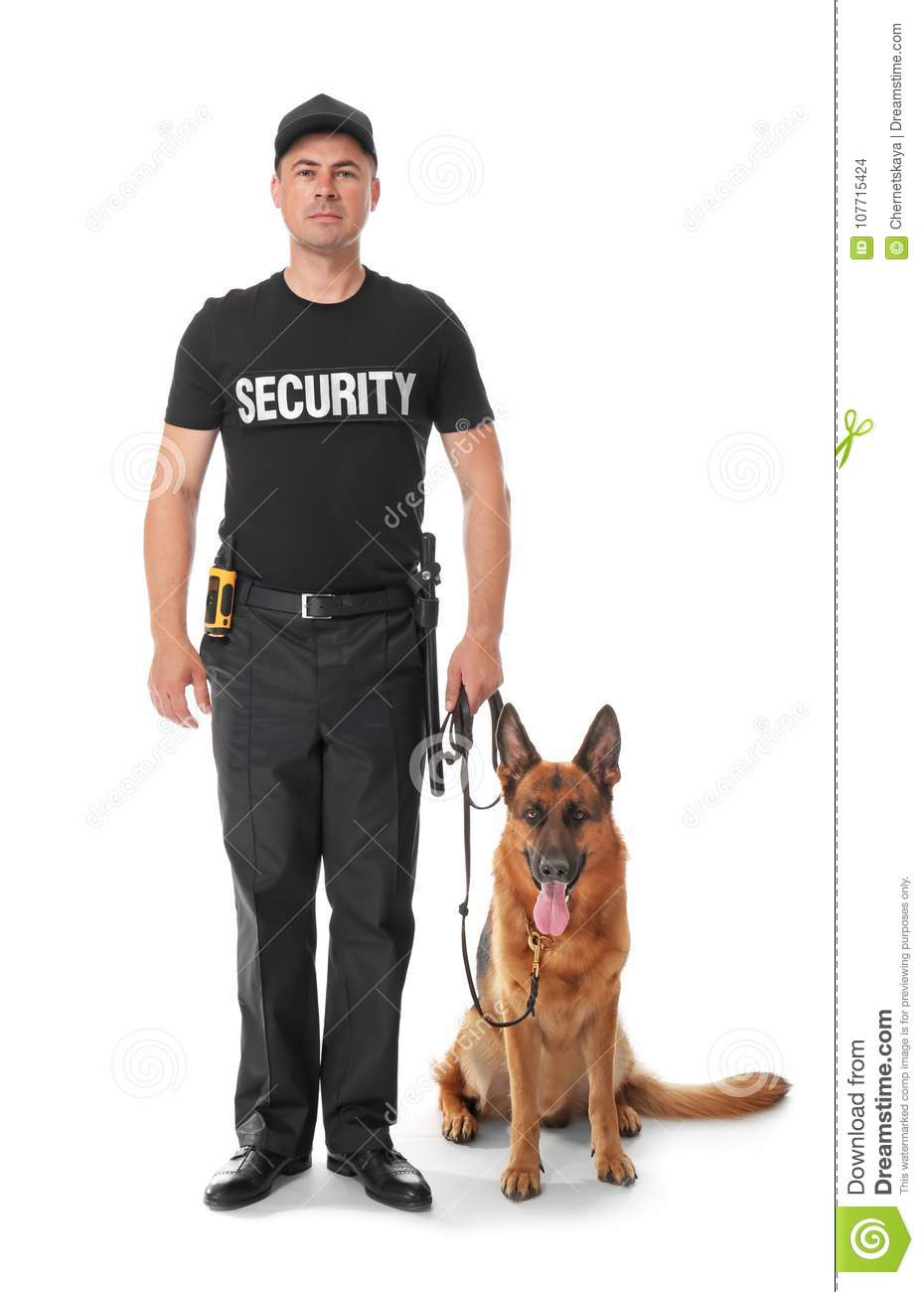 Security guard with dog