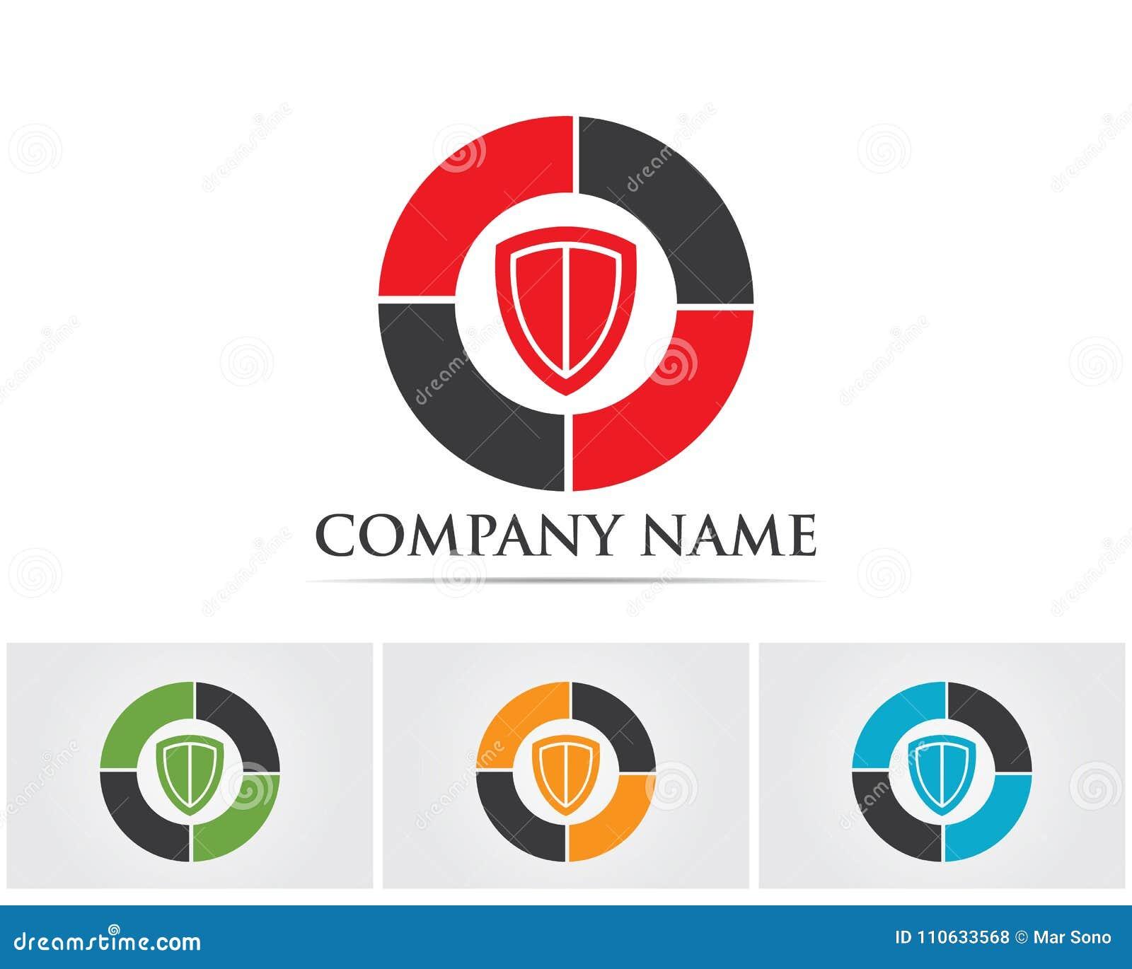 Security Guard Logo Design Vector Shield Template Stock Vector