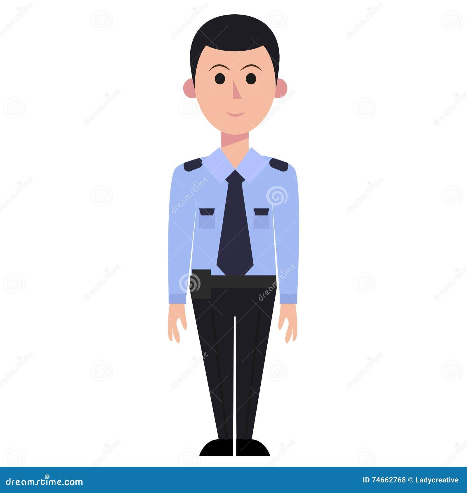 Security Man Vector Illustration. Cartoon Vector ...