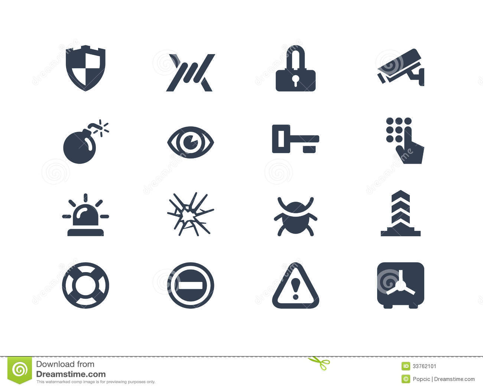 Decorative Fire Extinguisher Security Icons Cartoon Vector Cartoondealer Com 8690777