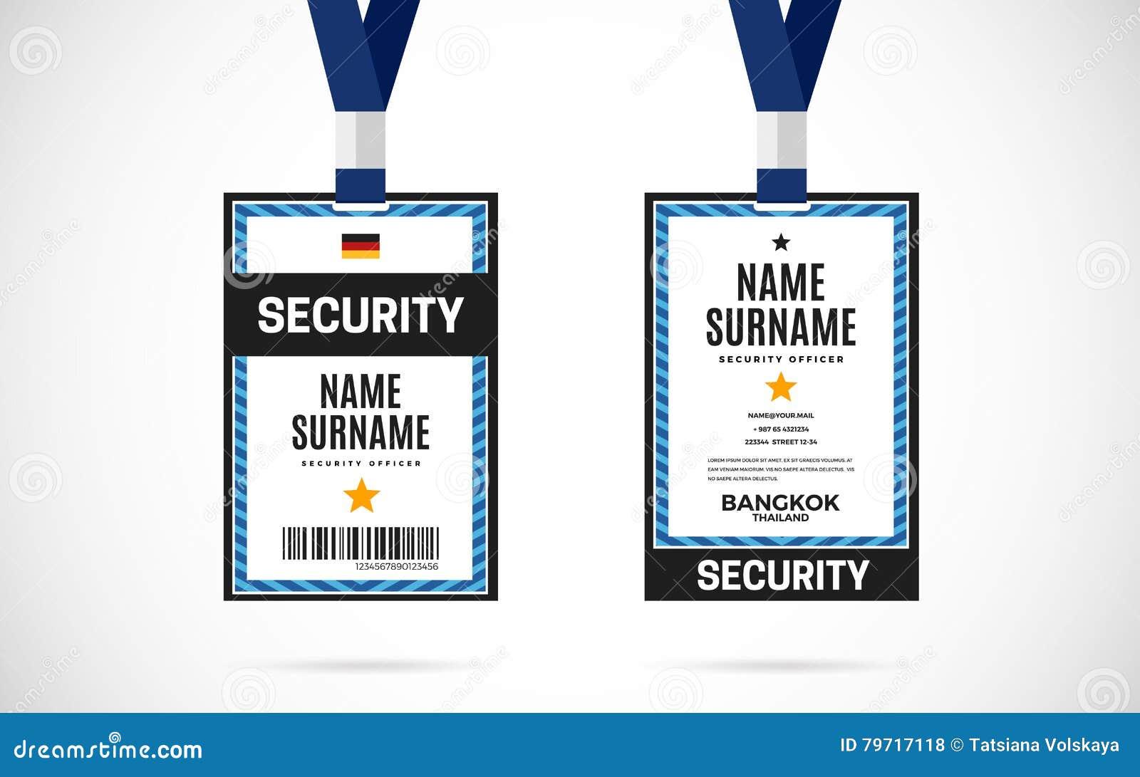 Security Id Card Set Vector Design Illustration Stock Vector ...
