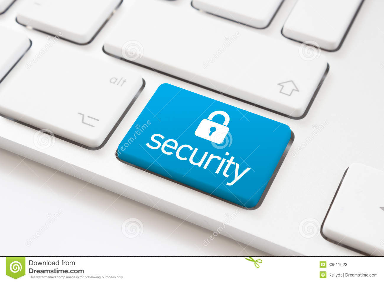 Security key and lock sign